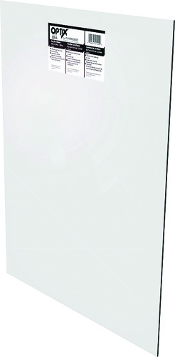 OPTIX 11G0831A Flat Sheet, 44 in L, 32 in W, 0.1 in Thick, Clear