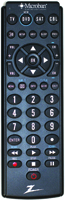 Zenith ZB410MB Remote, 20 ft, AAA Alkaline Battery, 2 Batteries Required
