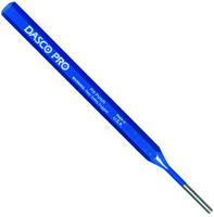 Dasco Pro 589-0 Pin Punch, 1/4 in Tip, 6 in L, HCS