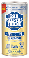 Bar Keepers Friend 11510 Cleanser and Polish, White, 12 oz Can