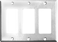 Arrow Hart 2163 Series 2163W-BOX Standard-Size Wallplate, 3-Gang, Thermoset,