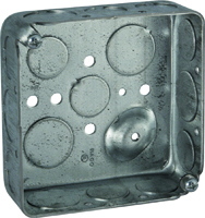 RACO 8192 Outlet Box, Knockout Cable Entry, 16-Knockout, Steel
