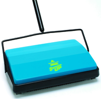 BISSELL Sweep Up 21012 Floor and Carpet Sweeper, 11 in W Cleaning Path, Blue