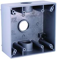 HUBBELL 5341-0 Box, Horizontal/Vertical Mounting, Aluminum