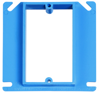 Carlon A410R-CAR Electrical Box Cover, 4 in L, 4 in W, Square, PVC
