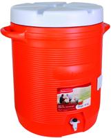 Rubbermaid 1610-01-11 Water Cooler, 10 gal, Orange