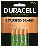 Duracell 66160 Rechargeable Battery, AAA, Nickel-Metal Hydride, 1.2 V