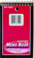 TOP FLIGHT MB-17 Series 4610618 Narrow Rule Notebook, 5 in L x 3 in W Sheet,
