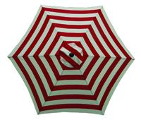Seasonal Trends Market Umbrella, 9 Ft H, Red/White