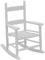Hometown Holidays Childs Rocking Chair, White, 29 In