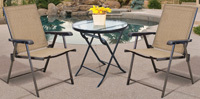 Seasonal Trends Folding Bistro Table, 27 In Dia, Round, Glass