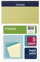 TOP FLIGHT 8105/5 Series 4513090 Legal Pad, 8 in L x 5 in W Sheet, 50-Sheet