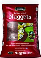 NuScape NS08RW Rubber Mulch Nugget, Redwood, 8 cu-ft Bag