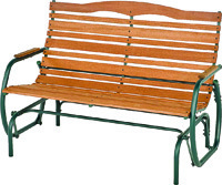 Jack Post Double Glider Bench, 36-3/4 In H X 48-1/4 In W X 35-1/2 In D