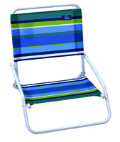 Aloha 1-Position Beach Chair, 190 lb Load, 22-1/2 in H x 20-1/4 in W x 23.62