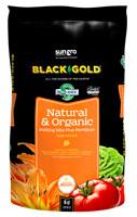 sun gro BLACK GOLD 140204016QTP Potting Mix, Brown/Earthy, Granular Grain,