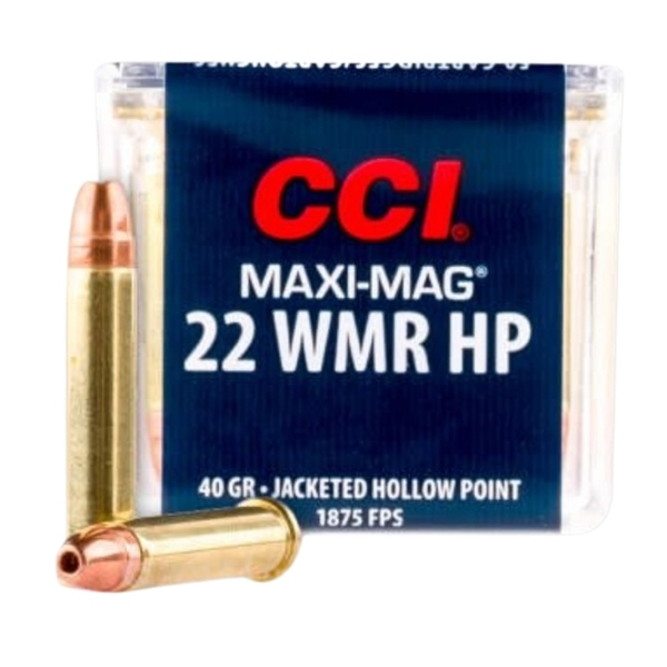 CCI Maxi-Mag .22 WMR 40GR Jacketed Hallow Point 50 Rounds