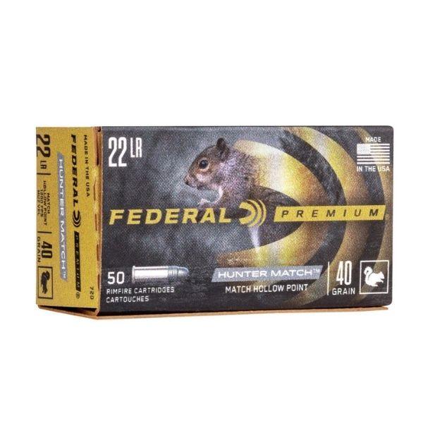 Federal Hunter Match 22 LR 40 GR HP
