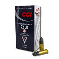 CCI Standard Velocity .22LR 40GR Lead Round Nose 50 Rounds