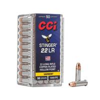 CCI Stinger .22 LR 32GR Hollow Point 50 Rounds