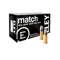 Eley Match .22 LR 40GR Lead Flat Nose 50 Rounds