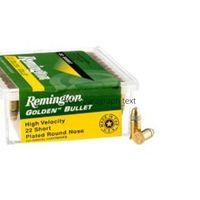 Remington Golden Bullet .22 HV 30GR Plated Lead Rnd Nose 100 Rounds