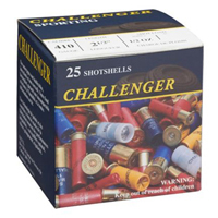 """Challenger Game & Sporting .410GA #4 Lead 2.5"""" 1/2 oz 25 Rounds"""