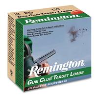 "Remington Gun Club Target Loads 12GA #8 2-3/4"" 1-1/8oz 25 Rounds"