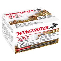 Winchester Small Game .22-222 WIN 36GR Copper Plated Hollow Point 222 Rounds