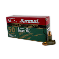 Barnaul Pistol 9MM Luger 115GR Full Metal Jacket 50 Rounds