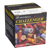 """Challenger Game & Sporting .410GA #4 Lead High Brass 3"""" 11/16oz 25 Rounds"""