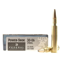 Federal Power Shok .30-06 SPFLD 150GR Soft Point 20 Rounds