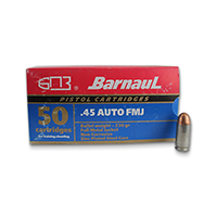 Barnaul Pistol .45 APC 230GR Full Metal Jacket 50 Rounds