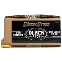 CCI Blazer Brass 9MM Luger 115GR Full Metal Jacket 500 Round Box