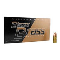 CCI Blazer Brass Centerfire Pistol Ammo 9MM FMJ-RN 124Gr   50 Pack