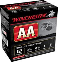 "Winchester AA 12GA #8 Lead Shot 2-3/4"" 1oz 25 Rounds"