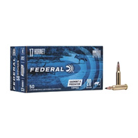 Federal AE Varmint and Predator .17 Horn 20GR Tipped Varmint Point 50 Rounds