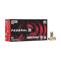 Federal AE Pistol .40 S&W 180GR Full Metal Jacket 50 Rounds
