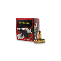 Federal AE Handgun 9MM Luger 115Gr Full Metal Jacket 50 Rounds