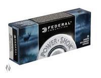 Federal Power Shok .22-250 REM 55GR Soft Point 20 Rounds