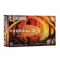 Federal Fusion 6.5 Creedmoor 140GR Soft Point 20 Rounds