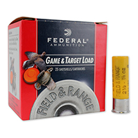 """Federal Field and Range 20GA #8 Lead Shot 2-3/4"""" 7/8oz 25 Rounds"""
