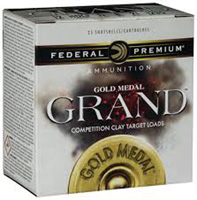 """Federal Gold Medal Grand 12GA #7.5 Lead Shot 2-3/4"""" 1-1/8oz 25 Rounds"""