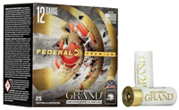 """Federal Gold Medal Grand 12GA #8 Lead Shot 2-3/4"""" 1-1/8oz 25 Rounds"""
