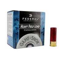"Federal Game Shok Heavy Field 12GA #6 Lead Shot 2-3/4"" 1-1/8oz 25 Rounds"