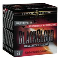 "Federal Black Cloud Waterfowl 12GA BB Steel Shot 3-1/2"" 1-1/2oz 25 Rounds"