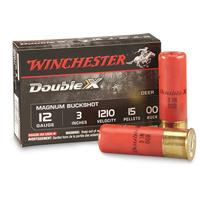 "Winchester Double X Deer 12GA 00 Buck 3"" 12 Pellets 5 Rounds"