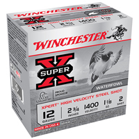 "Winchester Super X Waterfowl 12GA #2 Steel Shot 2-3/4"" 1-1/8oz 25 Rounds"