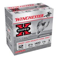 "Winchester Super X Waterfowl 12GA #3 Steel Shot 2-3/4"" 1-1/8oz 25 Rounds"