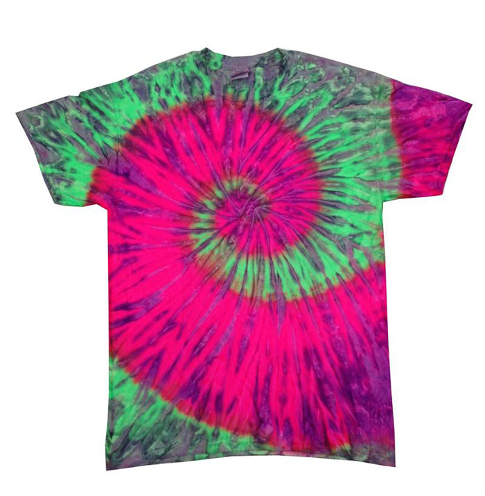 440647ac4fbce Neon Pink, Purple & Green Tie Dye T Shirt